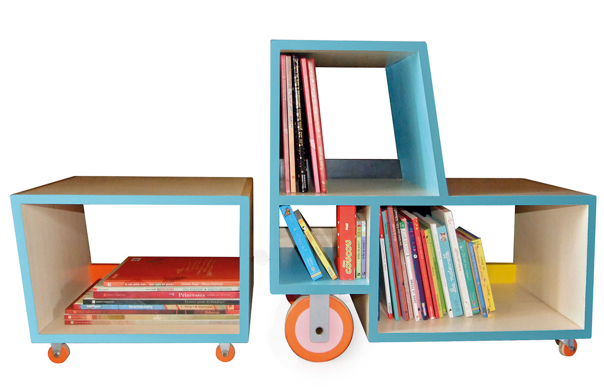 bibliotracteur – a play furniture by Charline Pipard