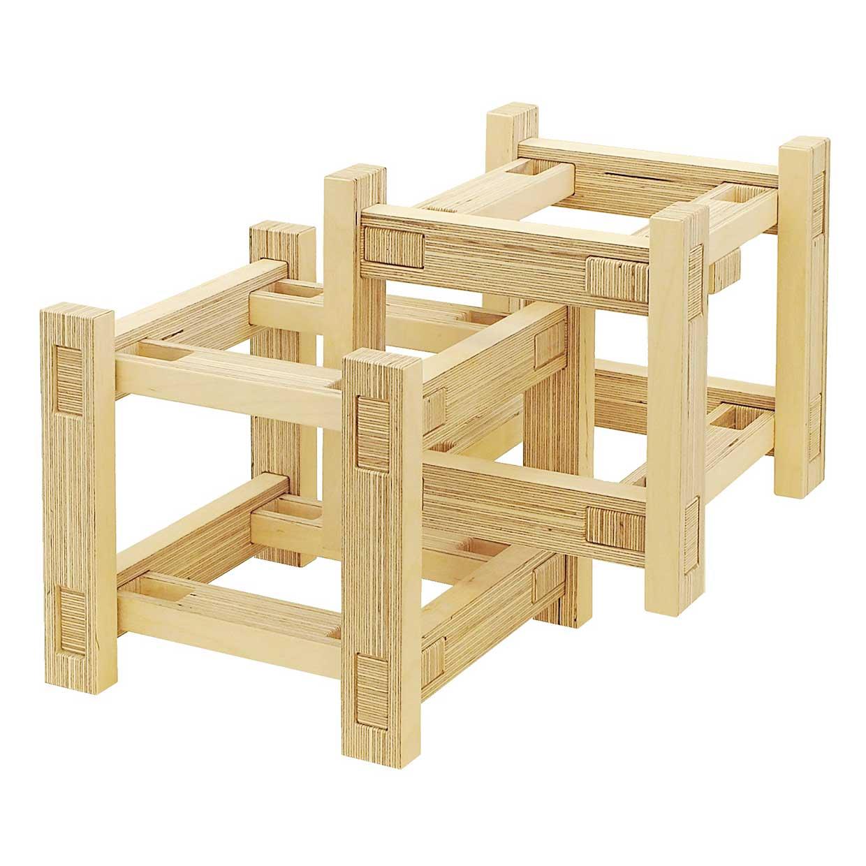 Spinifex Cluster – wooden bricks by Sebastian Kalies (4+)