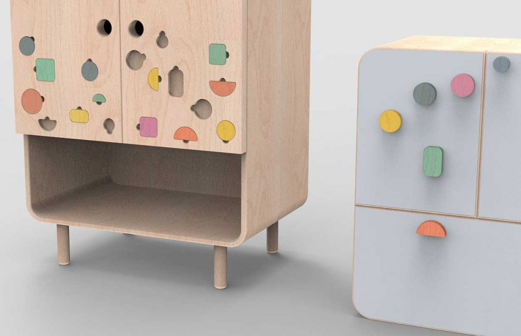 Modern Kids Furniture Cupboard For Agata Nowak 5