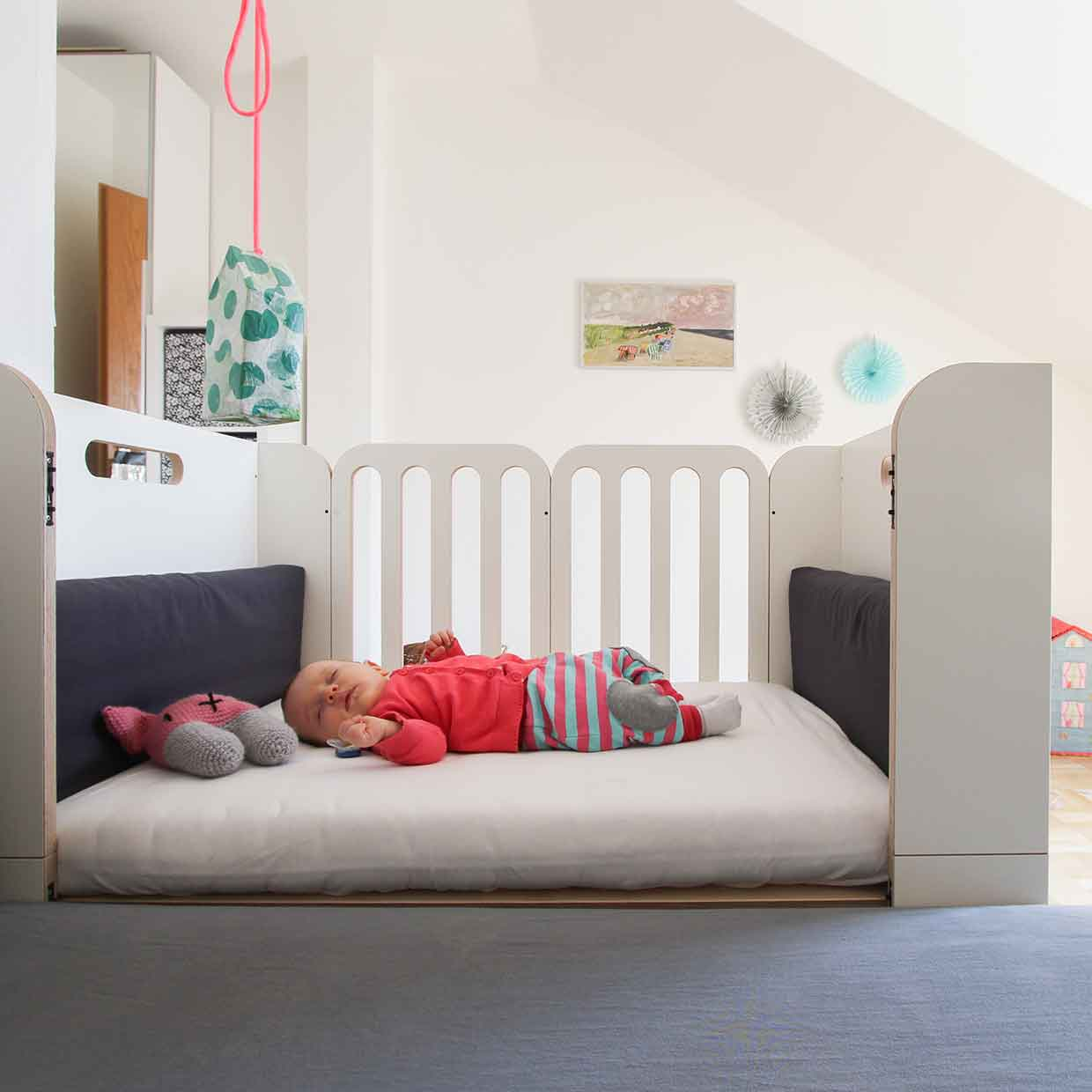 Minimalmaxi growing bed by wilja afilii design for kids for Baby kinderbett mitwachsend