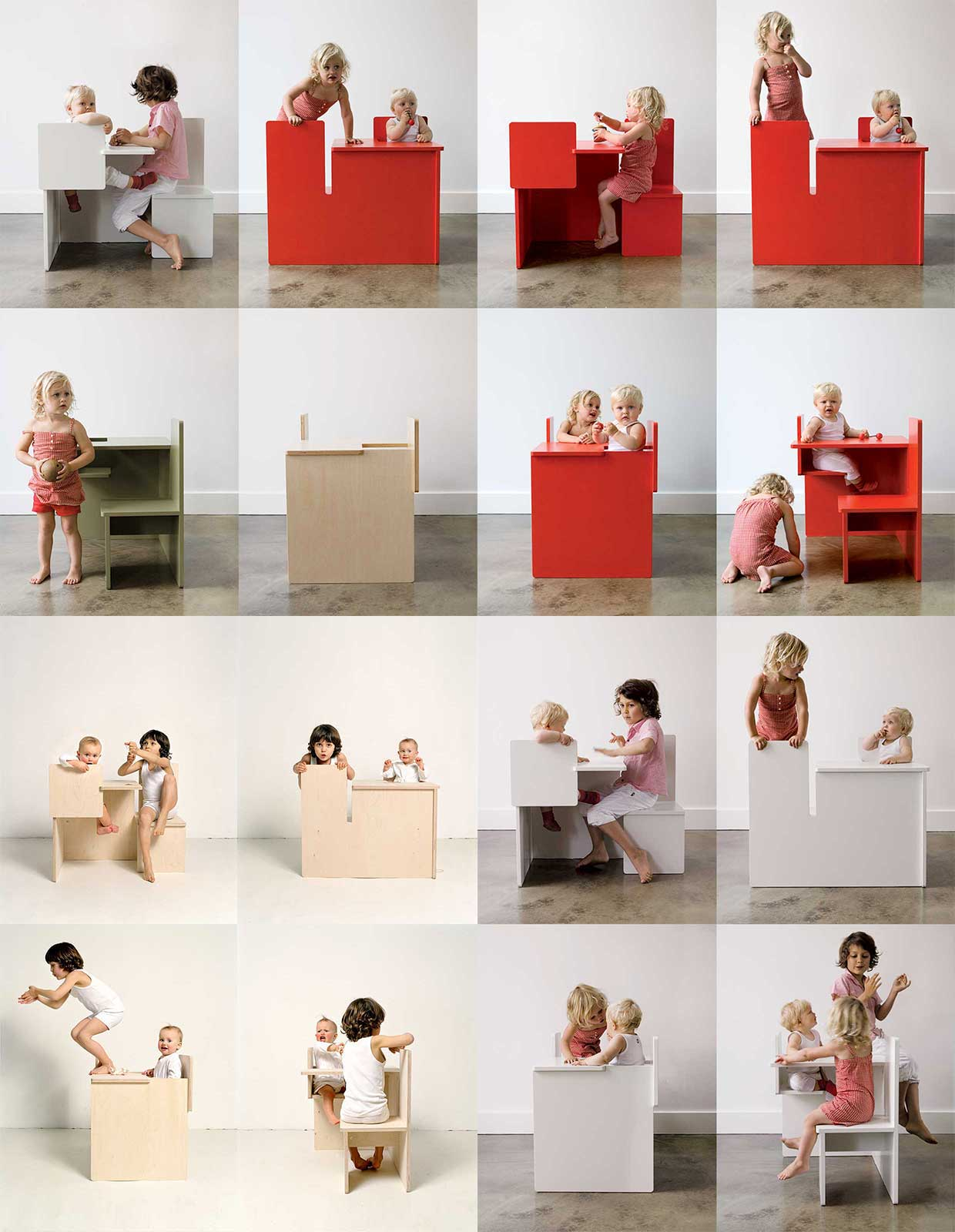 The mother child dining modern kids furniture by maartje for Modern kids furniture