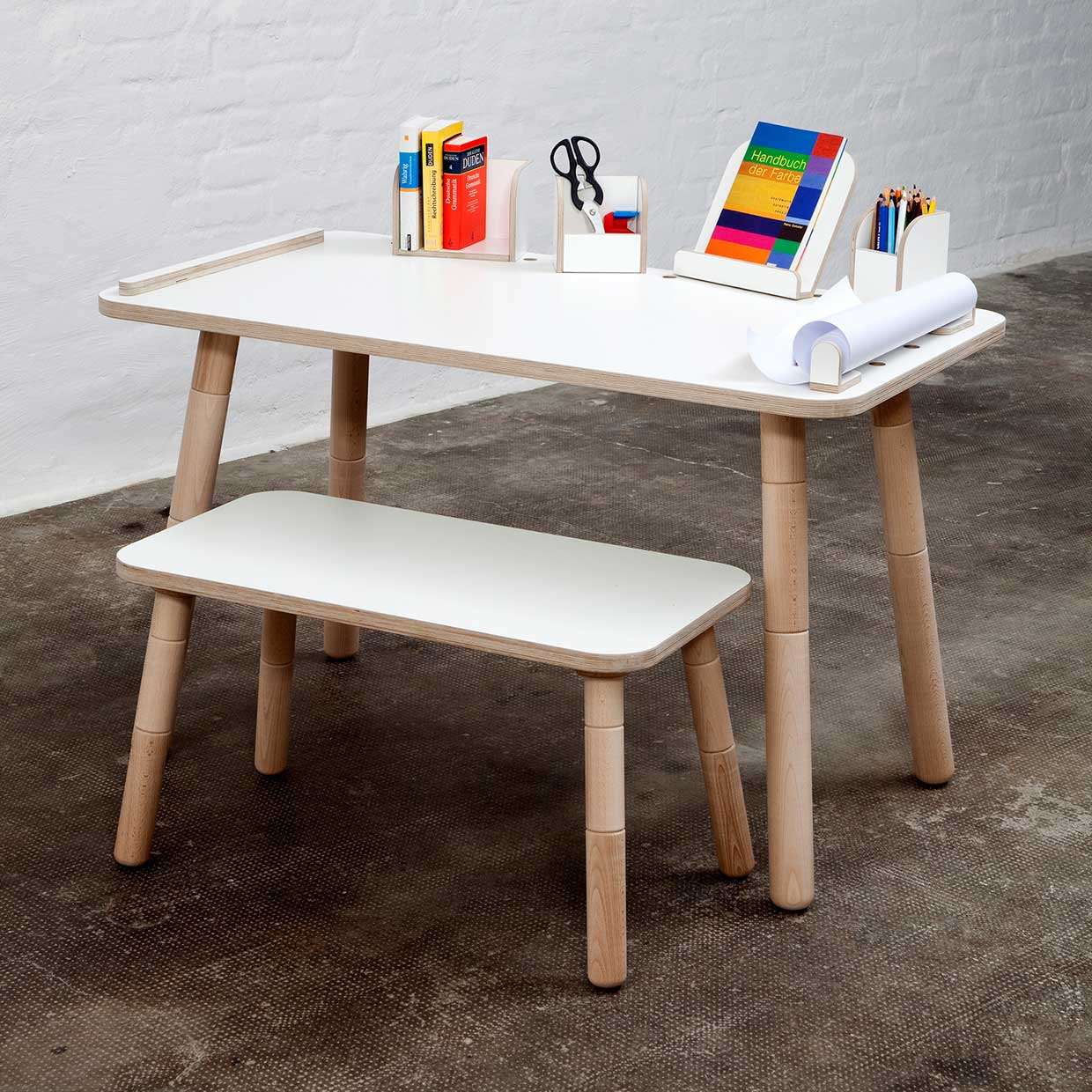 Growing Table Desk For Children That Grows With Them By Pure Position