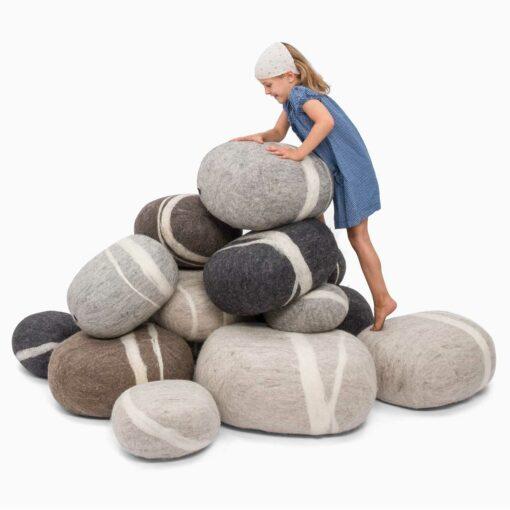 ecological-felt-pebble-play- cushions-by-myfelt-1
