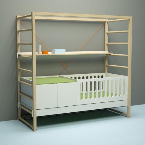kidbedkit – Kinderbett mitwachsend von Michael Hilgers | iidee